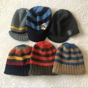 Winter Hat Lot Boy's Beanies Knit Brim 3 4 5 6 7 8